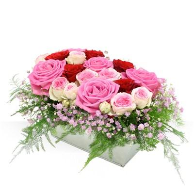 Panier de roses - bebloom