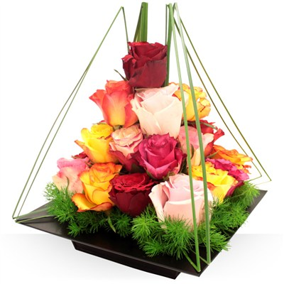 Pyramide de roses - bebloom