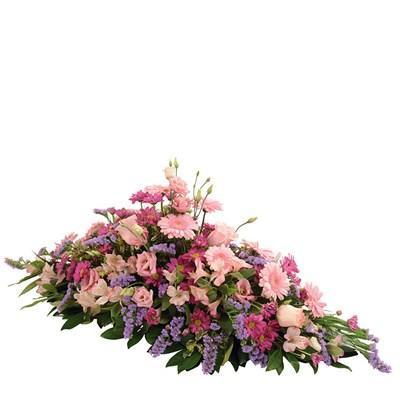 Raquette funéraire rose - bebloom