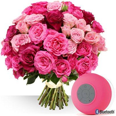Roses et son enceinte offerte