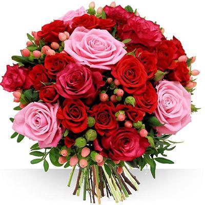 Coffret naissance livraison fleurs naissance - Bouquet de rose saint valentin ...