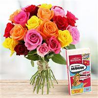 Roses et son chocolat Mère Veilleuse