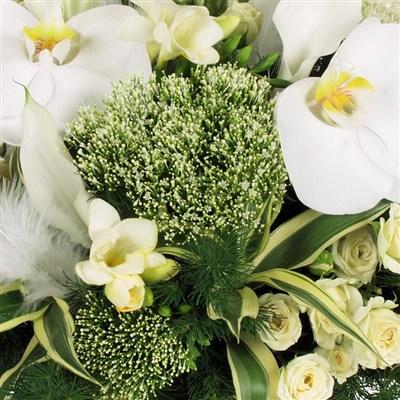 Corbeilles et composition de fleurs livraison en 24h for Bouquet de fleurs vertes