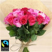 Bouquets ronds : 40 roses en camaïeu rose - bebloom