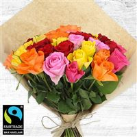 Bouquets ronds : 40 roses multicolores - bebloom
