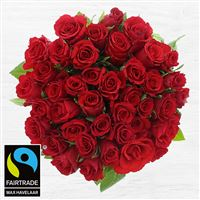 Bouquets ronds : 40 roses rouges - bebloom