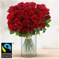 40 roses rouges et son vase - bebloom