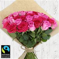 Bouquets ronds : 60 roses en camaïeu rose - bebloom