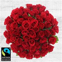 Bouquets ronds : 60 roses rouges - bebloom