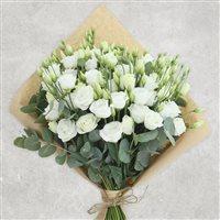 Image Bouquet de lisianthus blancs XXL par Bebloom