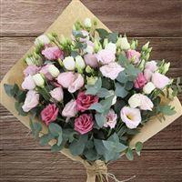 Bouquet de lisianthus roses XXL
