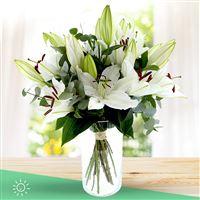 Image Bouquet de lys blancs et son vase par Bebloom
