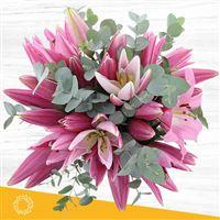Image Bouquet de lys roses XL par Bebloom