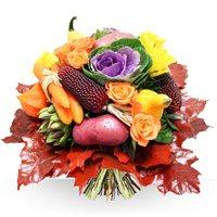 Création du potager, aux couleurs de saison, l'originalité d'un bouquet uniqu...