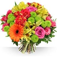 Offrez de la gaieté et plein de bonheur lors de vos festivités. Ce bouquet au...