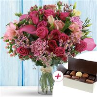 Image Lovely Rose XXL et ses chocolats par Bebloom