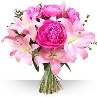 Un bouquet haut pour fêter une bonne fête à votre maman, tout en couleur et e...