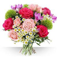 Si la fleur est un sourire, le bouquet est un éclat. Le pinky, c'est l'envie ...
